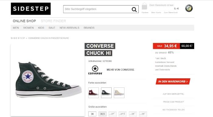 Converse Chucks Reduziert